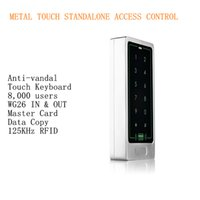 access keyboards - 8 Users Metal Case Touch Keyboard Single Door KHz RFID Access Controller Standalone