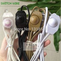 Wholesale DIY dimming table lamp dimmer switches cable accessories lighting power plug with m electrical wire dimmable