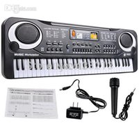Wholesale New Arrive Key Multifunction Electronic Music Keyboard Electric Piano With Microphone Gift Wholesales Funny Toys