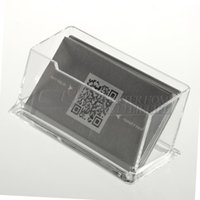 acrylic display business cards - New Clear Desktop Business Card Holder Display Stand Acrylic Plastic Desk Shelf
