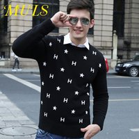 100 cashmere sweater - Mens knitted sweater new Cotton O Neck mulansi brand long sleeve pullover wool cashmere polo for male facotry direct sale