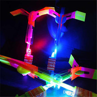 arrow materials - Trendy LED Amazing Arrows Plastic Material LED Arrows Helicopter Regular Size Halloween Flash Toys for Children AB