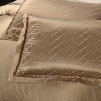 bamboo pillowcase - Yarn Dyed Poly Silk Bamboo cotton Jacquard Water Drop pillowcases set