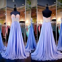 Wholesale Lavender Bridesmaid Dresses Evening Gowns Cheap Sweetheart Ruched Chiffon Beaded Bodice Wedding Prom Dresses Maid of Honor Dresses