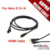 Wholesale Camera Accessories m Male HDMI to Micro HDMI Cable M M Converter Cord for Gopro Hero Plus Xiaomi Yi Action Camera