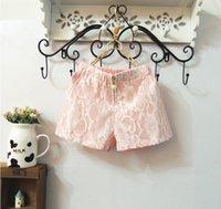 12pcs filles dentelle short pants diamant Pantalons simple Mode d'été Pantalons Shorts enfants Vêtements enfants filles portent