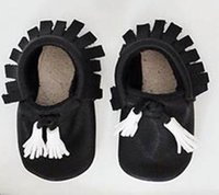 Wholesale 2015 Summer Style White Tassel Real Leather Baby Moccasins Soft Sole Fringe Infant Mocccasins Toddler Unisex Shoes Kid Footwear Sapatoes