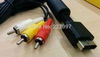 por DHL o EMS 100 pedazos Cord Componente HD AV TV Cable Video-Audio para SONY para Playstation 3 Slim 2 para PS2 para PS3pk1