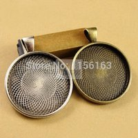 silver tray - pieces To fit mm round cabochon antique bronze silver plated vintage style alloy pendant tray settings hd1127
