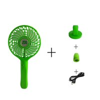 Wholesale New Multifunction Creative Mini USB Fan Mobile Power Rechargeble Riding Fan Pink Green Student FanTwo Colors