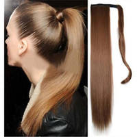 Wholesale Women s Synthetic Long Straight Hair Claw Clip Ponytails Hair Extension Hairpieces colors Available
