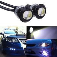 auto led tail lamp - Auto Car Eagle Eye White LED Projector Lens DRL Fog Lamp Light Daytime Running Tail Backup Reverse Motor
