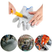 garden gloves - High quality Knife Grade Cut resistant Home Garden Gloves Anti abrasion Work Protective Gloves Skid resistant Safety Mittens H16471