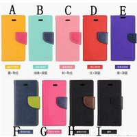 apple - Wallet Mercury Case For iPhone Galaxy S6 Flip Folio Case Shockproof for Apple S S C Samsung S4 S5 NOTE with Retail Package