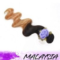 Cheap DX-817 100g Malaysian body wave ombre human hair T hair extension hair weft!Awesome US Hot 100g hair extensions hair wefts hair weaves!