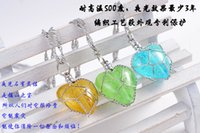 Cheap 2015 summer new luminous ball necklace Heart-shaped necklace handmade woven creative luminous ball clavicle chain necklace