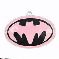 Wholesale New Arrival Batman Inspired Pink Alloy Pendant mm Super Hero Chunky Necklace Pendant Jewelry