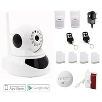 Cheap P2P Wireless Wifi IP Camera Home intruder Alarm security system support 64 wireless sensor+outdoor siren+fire smoke sensor