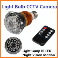 Wholesale Night Vision T7 Light Bulb CCTV Camera Spy DVR IR Video Record Hidden Lamp