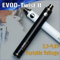 vape battery - Hottest evod twist and evod twist II e cigarette mah variable voltage battery ecigator ecig evod starter kit vape pen ego vv battery
