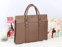 Wholesale High quality genuine leather handbag briefcase B bag computer bag gray men s bag