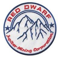 badge company - 3 quot RED DWARF Company JUPITER MINING CORP Logo TV MOVIE Iron On Sew On Patch Tshirt TRANSFER MOTIF APPLIQUE Rock Punk Badge
