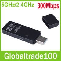 Wholesale Newest Mbps GHz GHz Dual Band USB Wifi Wireless Signal Adapter Lan External Network Card