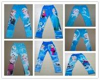 Wholesale Baby Girls Autumn Long Cotton Frozen Leggings Girl s Frozen Pants