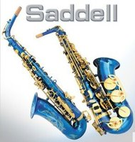 Wholesale Drop E Alto blue paint Jinjian double color Sax