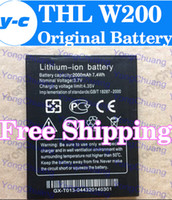 Wholesale THL w200 Battery New Original mAh Lithium ion Battery for THL W200 w200s W200C Smart Mobile Phone In Stock Track Code