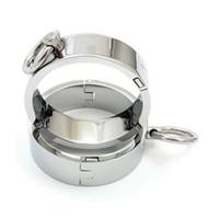 Wholesale Male Female sex bracelet Metal shackle andcuffs shackles bondage bracelet SM411A SM412A