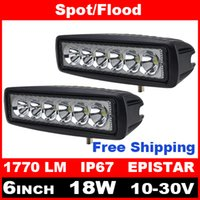 Wholesale 2pcs Inch W LED Work Light for Indicators Motorcycle Driving Offroad Boat Car Tractor Truck x4 SUV ATV Spot Flood V