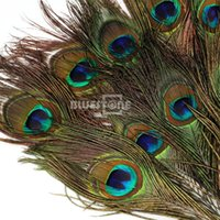 Wholesale 10pcs Natural Peacock Tail Eyes Feathers Inches about cm Decoration