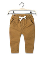 baby fashion trends - Boys Leisure Pants New Fashion Spring Autumn Amrican And European Style Trend Strentchy Sanding Baby Long Trousers Fit Age Kids YY14