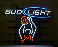 advertisement player - Bud Light Basketball Player Neon Sign Custom Handcrafted Real Glass Bulb Neon Sport Game Room Display Advertisement Sign quot X14 quot