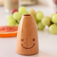Wholesale Toothpick Holders Wooden Creative Smile Face Tooth Pick Holder Toothpicks Can Box Household