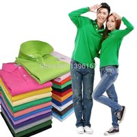 women's polo shirts - new Hot men s and women s colors casual long sleeved shirts