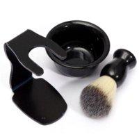 best abs stands - New Arrival Mens Shaving Tool Set Best Badger Bristle Hair Shaving Brush Bowl Mug Drip Stand ABS Bowl