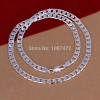 Wholesale 2016 MM Sterling Silver plated fashion snake chain necklaces for men jewelry High quality LKN047