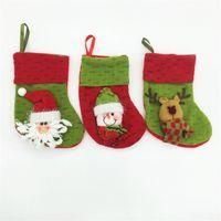Wholesale Santa Socks Snowman Christmas Tee Patter Kid Gift Stockings Christmas Stocking