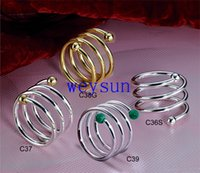 Wholesale Bronze Stainless Napkin Ring Holder with colors choice for wedding decoration