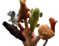 Wholesale plush Finger Puppet Toy Finger Doll Baby Dolls styles cos Australian animals cm in height