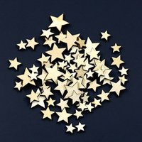 Wholesale 100Pcs Mixed Star Shape Wooden Buttons DIY Scrapbook Craft Clothing Decor Button