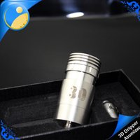 atomic metal - 3D Atomizer Atomic D Dripper Clearomizer E Cigarette Kit Cigarettes Airflow Control Vaporizer fit Chiyou King Panzer vaporizer box mod