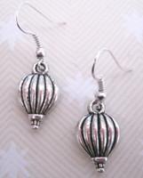 balloon drapes - 2015 Hot Fashion Jewelry Pair Vintage Silver Hot Air Balloon Charm Pendants Drape Earrings For Women DIY S256