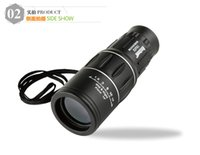 Wholesale 16X52 Zoom Compact Sports Monocular Telescope Mono Spotting Scope for Outdoor Traveling Hiking Camping