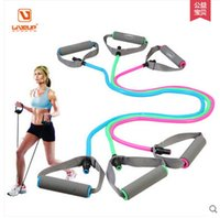 Wholesale New One word pull rope pull is latex rubber tube rubber band elastic band strength training home fitness equipment lbs lbs lbs