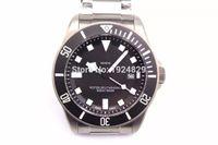 1 - 1 Top quality Luxury brand watches tn Black Dial Titanium case movement Men Watch Waterproof watch Super luminous