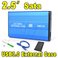 Wholesale 2015 Hot Portable USB to SATA quot HDD External Enclosure USB3 Hard Disk Drive Case Box for PC Computer Laptop Notebook