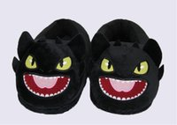 Wholesale How To Train Your Dragon TOOTHLESS Night Fury Slippers Cuddly Fluffy Collectible quot